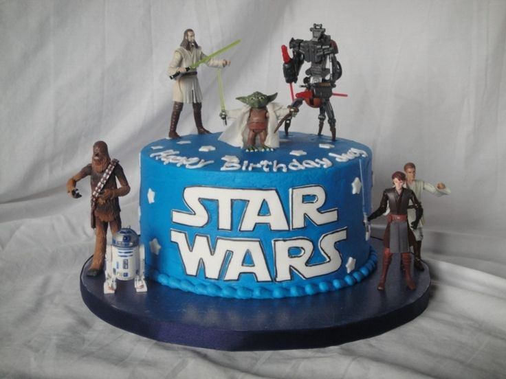 "Simple 8"" Star Wars themed cake. This 5-year-old knew what..."