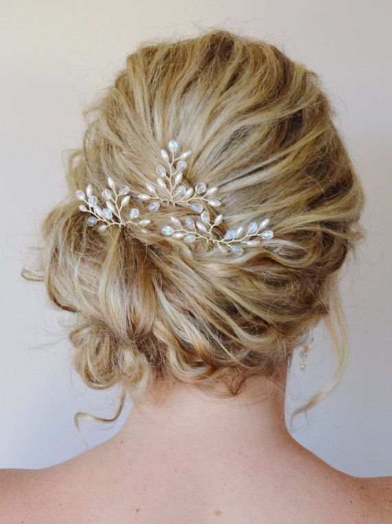 Bridal Hair Accessories Bridal Hair Pins by RoslynHarrisDesigns, $51.00
