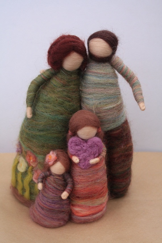 Felted family.... I like these so, so much