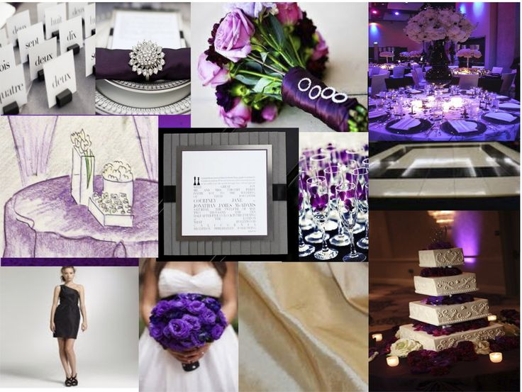 lovely purple wedding details