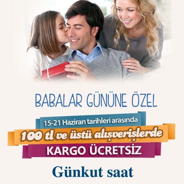 Ücretsiz kargo fırsatıyla babanıza en şık hediye Günkut Saat'ten… www.gunkutsaat.com