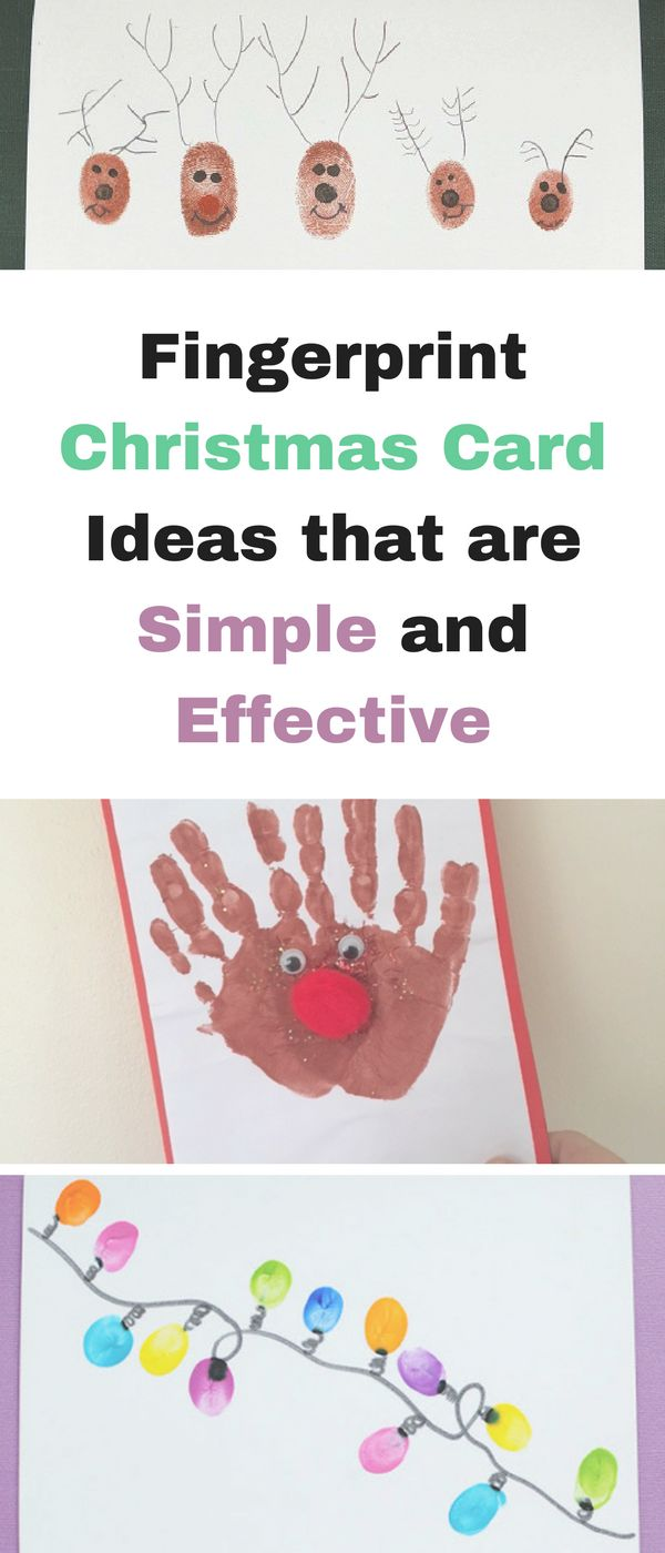 Fingerprint Christmas card ideas that are simple and effective by Emma at Mums Savvy Savings. #ChristmasCards #CardIdeas #SimpleChristmasCards