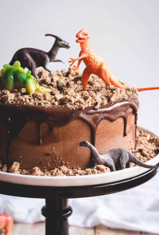 Homemade Dino cake.