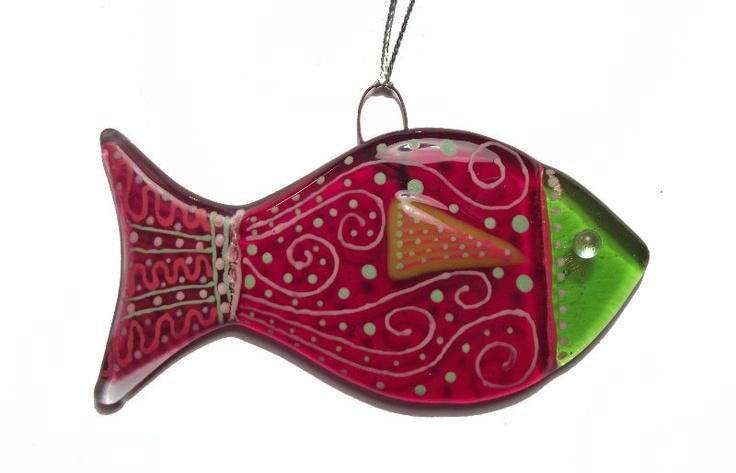 Fused Glass Fish Suncatcher