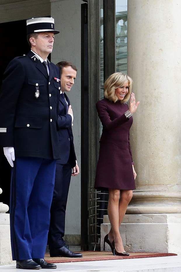 Brigitte Macron très chic pour recevoir Saad Hariri