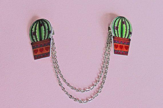 Bolero cardigan vest kraag clips cactus tattoo door MissFrauque