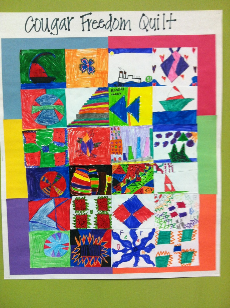freedom quilt for black history month