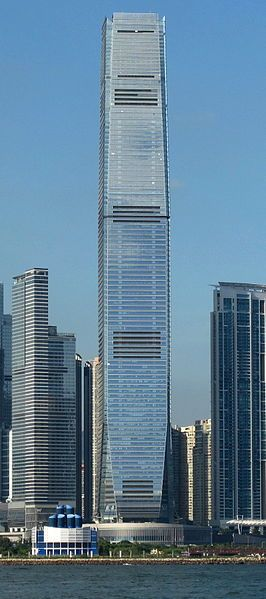 The Ritz-Carlton, Hong Kong, is claimed to be the world's highest hotel at 484 m (1,587.9 ft).