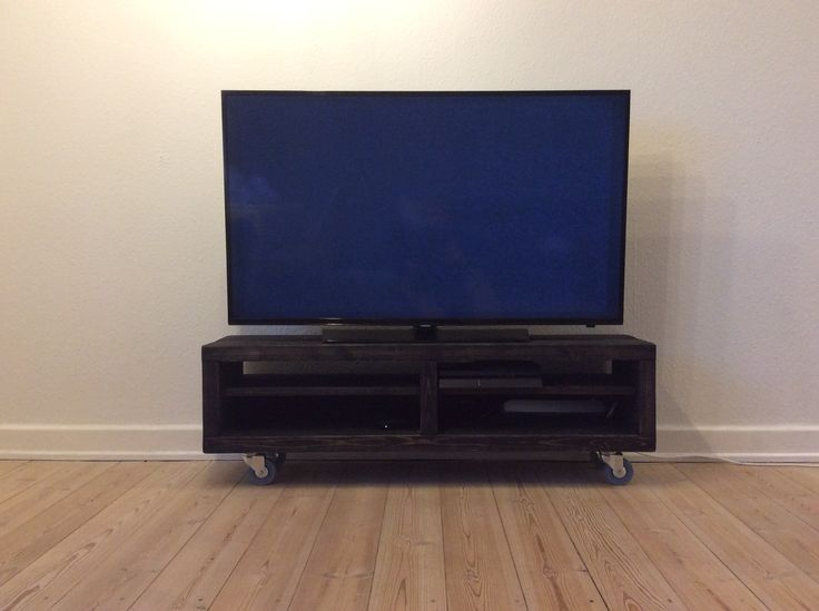 Tv-Stand Wood, Black stain, homemade.