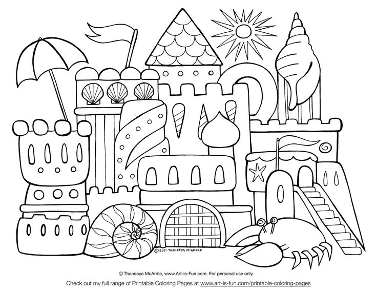 coloring pages of sandcastles - 18 best images about coloring pages on pinterest
