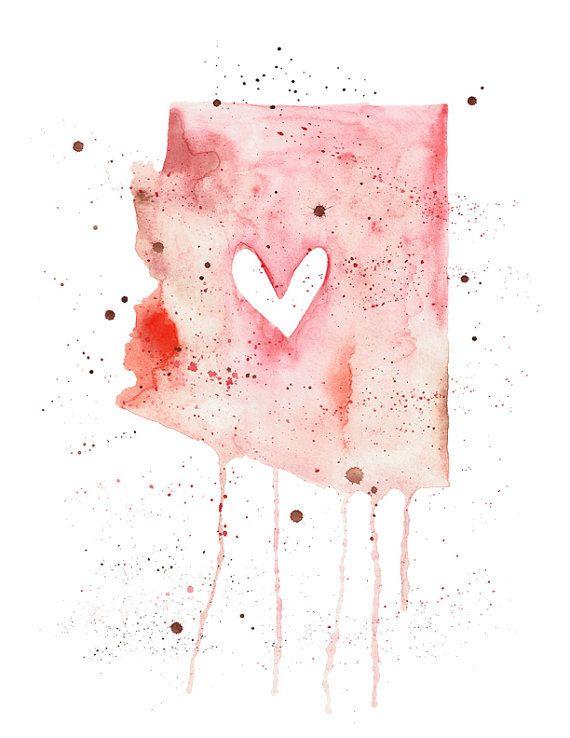 5x7 Arizona Love by poppyandpinecone on Etsy