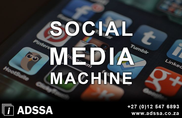 Social Media Machine   The aim of social media machine is to build your brand identity and presence online, build a solid online presence that your clients and followers can certainly recognize and associate with. There is social etiquette that one must take into consideration. Bad etiquette on social platforms is as...  http://adssa.co.za/social-media-machine-3/