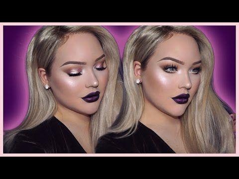 DARK & VAMPY Flawless Holiday Makeup Tutorial - YouTube