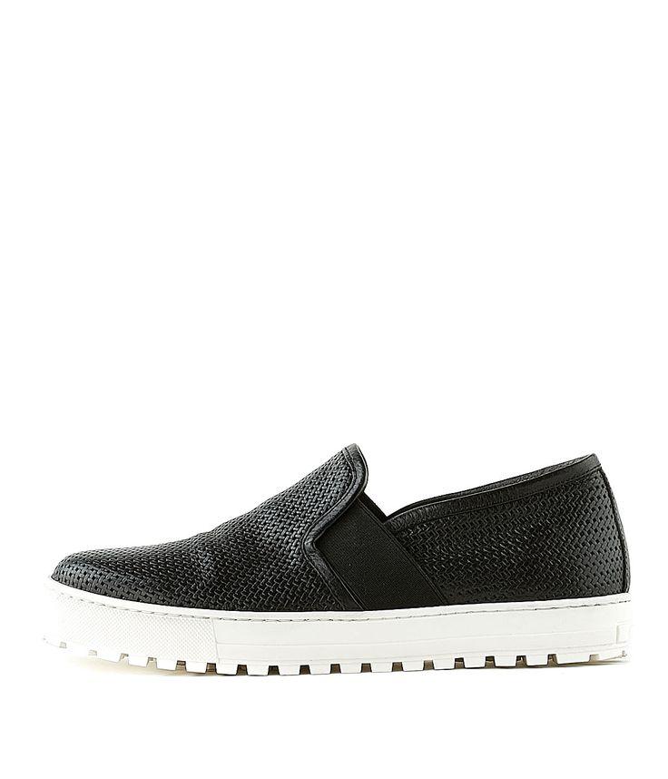 LAURA BELLARIVA | Slip-On 5000 BUFALO NERO Women | Rossi&Co  #laurabellariva #madeinitaly #shoes #slipon #slipons #new #summer #spring #rossiundco #shopping #online #leather #italian #shoes #fashion #mode #women #damen #girlfriend