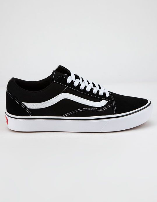 908d8473 VANS ComfyCush Old Skool Black & True White Shoes - BLKWH ...