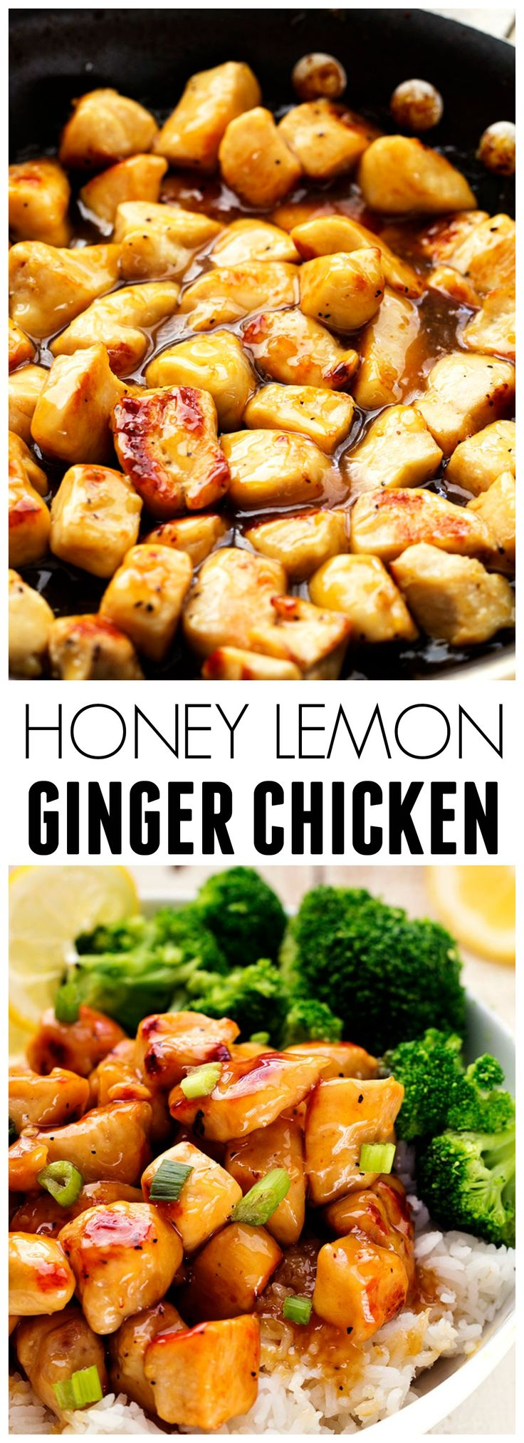 This Honey Lemon Ginger Chicken is light and ready in under 30 minutes! The flavor is out of this world good!