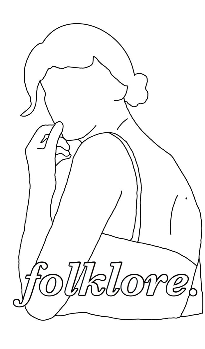 Taylorswift Folklore Pop Music Popculture Cardigan Swiftie Coloringpage Lyrics Taylor Swift Drawing Outline Drawings Coloring Pages