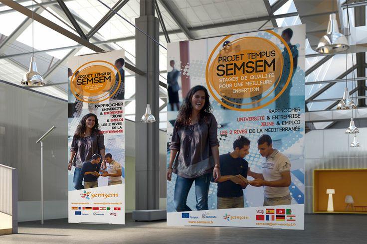 PLV : affiche, kakemono Université Montpellier 2, Semsem