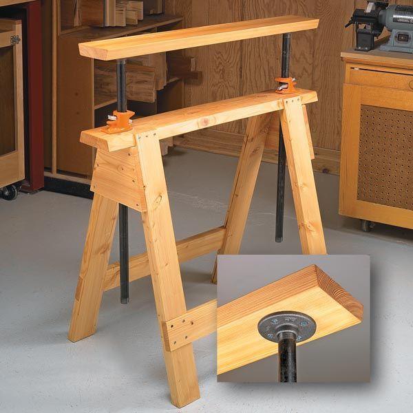 Adjustable Sawhorses   Woodsmith Tips: