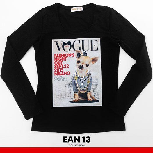 La nostra t-shirt ufficiale per la #Vogue Fashion's Night Out 2015!  #Ean13 #Ean13collection