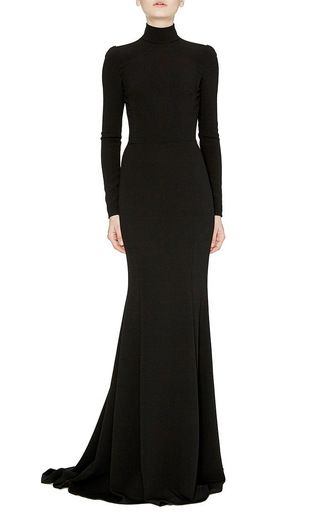 Black Trumpet Skirt Maxi Gown by DOLCE & GABBANA Now Available on Moda Operandi