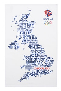 2012 Olympic Games map - events within map of England