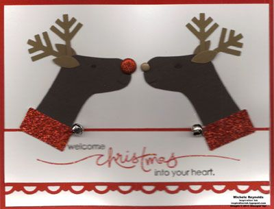 Kissing Reindeer by Michelerey - Cards and Paper Crafts at Splitcoaststampers