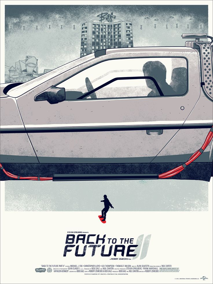 Back To The Future Posters that complete each other