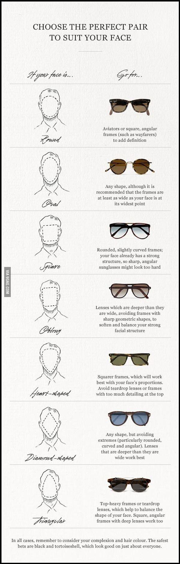 choisissez vos lunettes de soleil par rapport la forme de votre visage savoir choisir ses. Black Bedroom Furniture Sets. Home Design Ideas