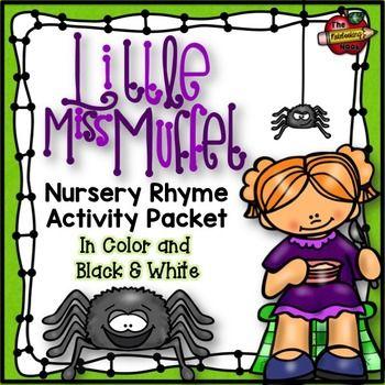 Little Miss Muffet Nursery Rhyme Activity Packet