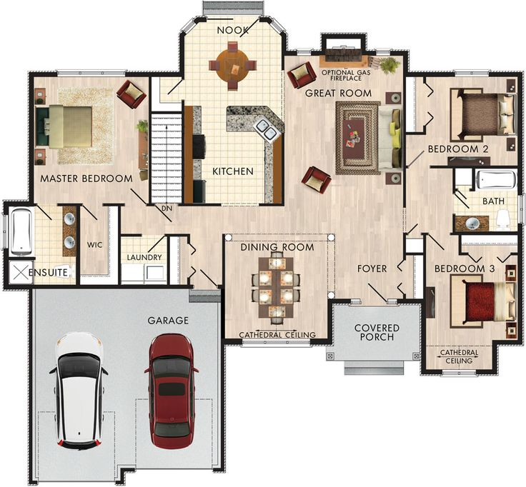 176 best House plans images on Pinterest | Floor plans, House floor ...