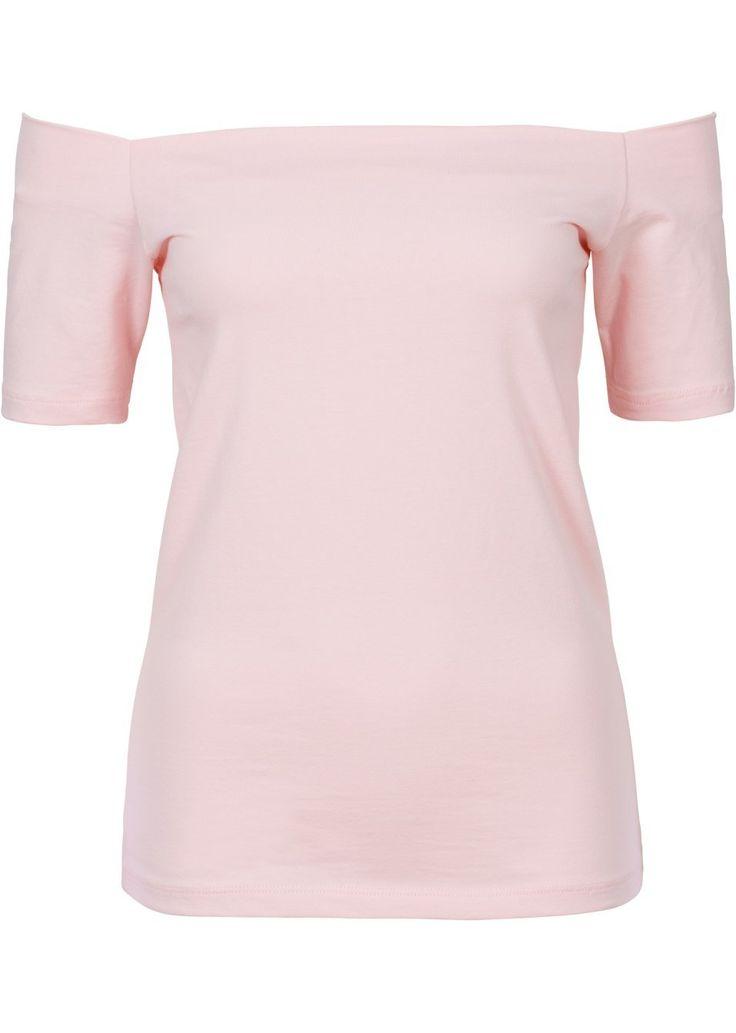 Atrakcyjny shirt z modnym dekoltem typu carmen - must-have w tym sezonie! Dł. w…