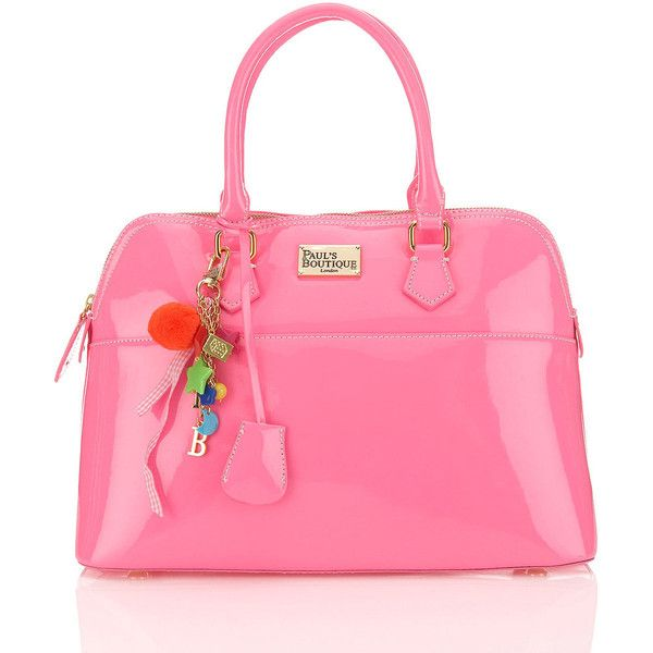 Maisy Bag By Pauls Boutique** ($88) ❤ liked on Polyvore featuring bags, handbags, pink, bags & purses, bolsos, women, paul's boutique, patent leather handbags, pink bag and man bag