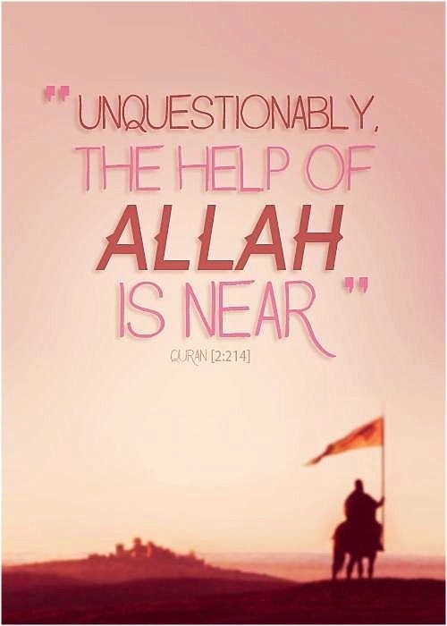The help of Allah is near