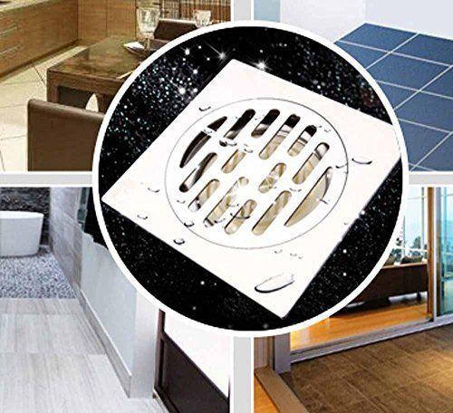SSBY Sleek minimalist creative bathroom floor drain stainless steel wetdry floor drains large drainage square floor drain