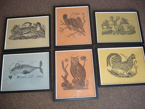 Americana Animal Woodcuts By Jonathan Fisher Parson First