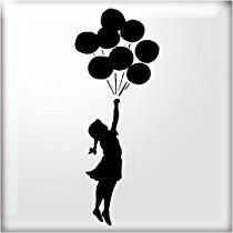 The Stencil Studio Banksy Style Balloon Girl 2 Reuseable Stencil - Size Extra Small (A5) (10347XS)