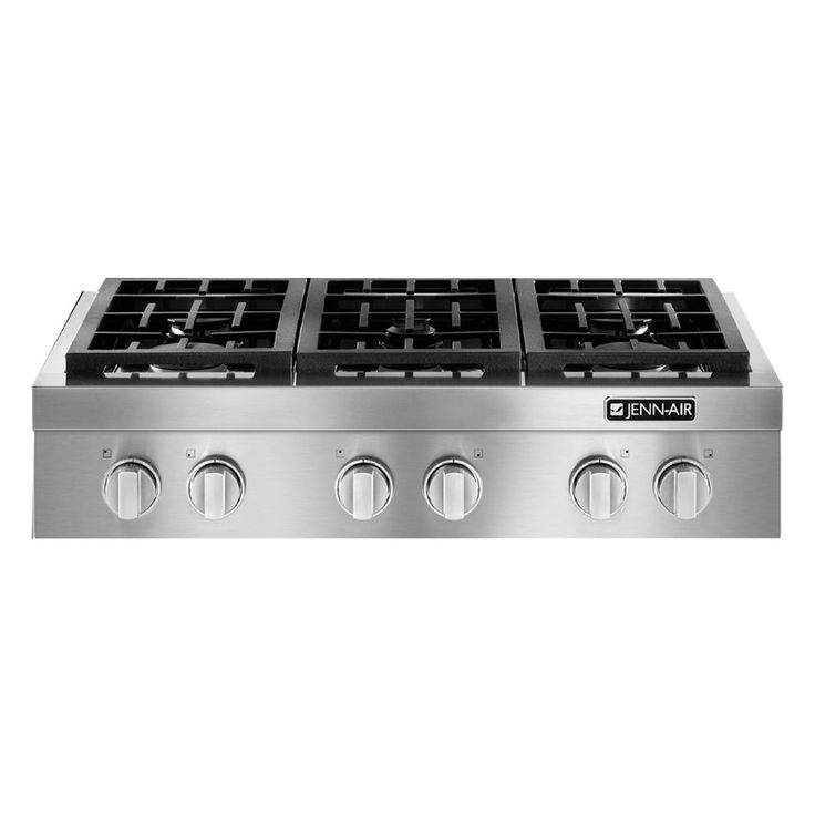 """Jenn-Air - 36"""" Gas Cooktop - Stainless steel - Front_Zoom"""