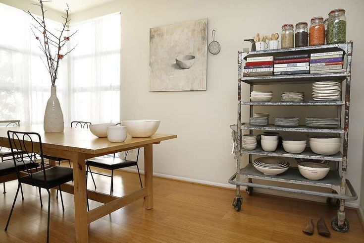 An overview of the dining room seen at the home of illustrator Rae Dunn  in Emeryville, California on Friday, February 13, 2015.