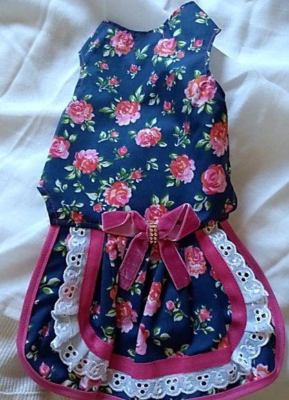 0765141e0 Compre Vestido de Flor com laço rosê para Pet P no Elo7 por R  38