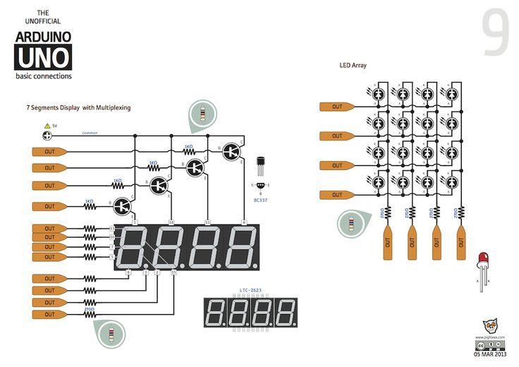 ABC - Arduino Basic Connections - Arduino Forum - Amazing diagram of many basic Arduino circuits.