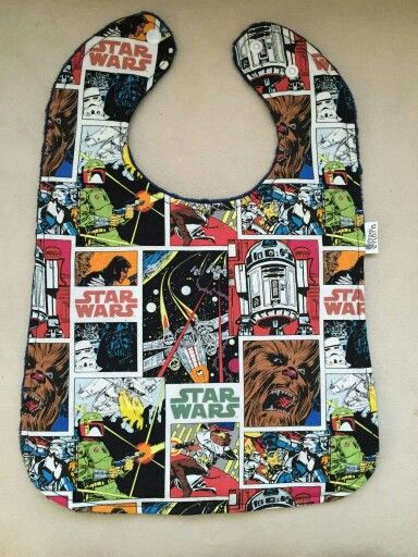Geeky goodness in this absorbant  bib
