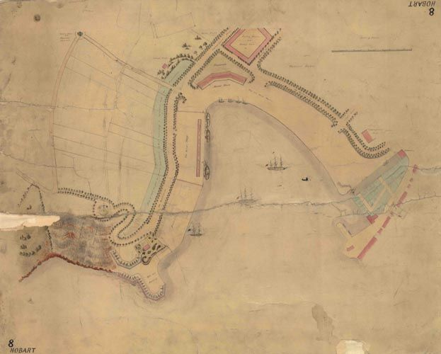 Historic Hobart, Tasmania 1830
