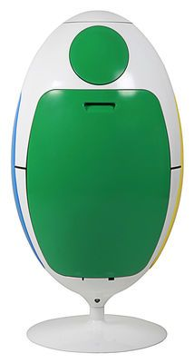 Poubelle de tri Ovetto / Pivotante - 51 Litres / 3 bacs - Soldi Design  http://www.homelisty.com/poubelle-tri-selectif-ovetto-soldi-design-pas-chere/