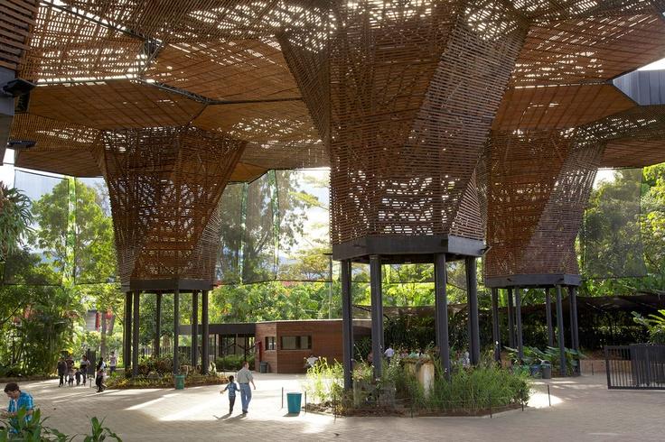 Botanical Garden, designed by Lorenzo Castro. Medellin, Colombia via NYT