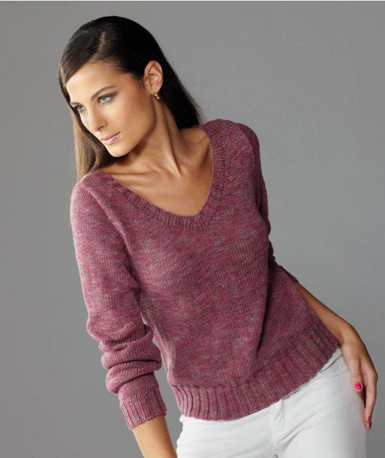 Free knitting pattern - Sweater in SMC Violena Colori…