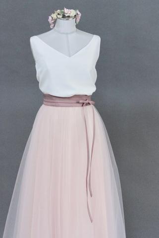 tuellrock fuer die hochzeit pink wadenlaenge hochzeit tullrock