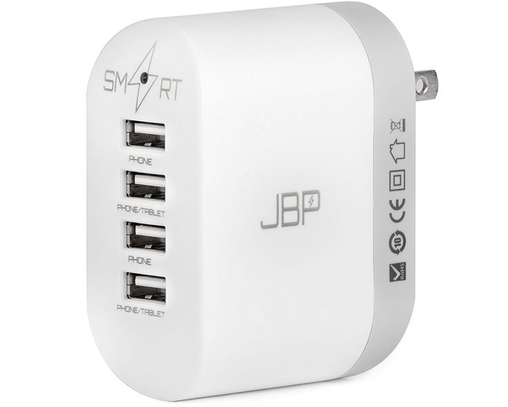 4 Port USD Travel Wall Charger | Looking for gift ideas for a new backpacker? Here are some of our favorites including tech-savvy gadgets and stylish accessories! travelfashiongirl.com