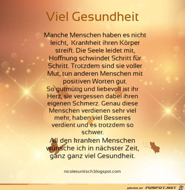 Viel Gesundheit - Gedicht   Quotes, Movie posters