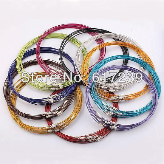 Best Wholesale 18 Inch Mixed Color Magnetic Screw Stainless Wire Cable 1mm Steel Chain Cord Necklace Screw Clasp,Jewelry Findings Under $19.44 | Dhgate.Com